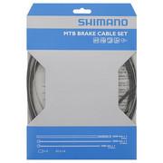 Zestaw linek nierdzewnych pancerzy i końcówek do hamulca MTB,czarny Shimano - wyprzedaż Shimano 4524667602996