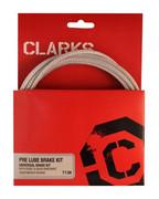 Zestaw hamulcowy CLARK'S PRE LUBE CARBON Mtb/Szosa uniwersalny pancerz srebrny karbon - wyprzedaż CLARKS 5021646005544