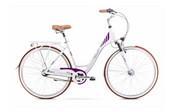 Rower miejski damski Romet Art Deco 7 2020 - biały-fioletowy Romet R20K-CIT-28-19-P-168