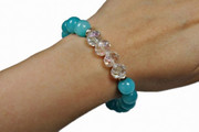 Bransoletka z niebieskich kamieni i kryształów Le Ru Bijou