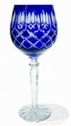 Kobaltowe kryształowe Rymery Krata Oliwka 280ml 6 sztuk Marika