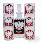 Grawerowany kryształowy zestaw do Whisky Orzeł Marika