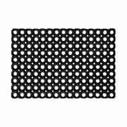 Wycieraczka zewnętrzna Domino 60 x 40 cm gumowa czarna INDAVO