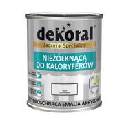 Emalia akrylowa NIEŻOLKNĄCA DO KALORYFERÓW 0.75 l Biała Połysk DEKORAL DEKORAL