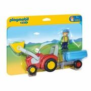 Playmobil Zestaw z figurką Traktor z przyczepą 4496