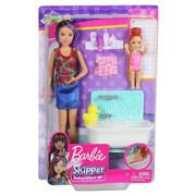 Lalka Barbie Skipper Klub Opiekunek Zestaw z wanną FXH05 Mattel