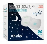 Wkładki laktacyjne Akuku Night 20 szt Akuku