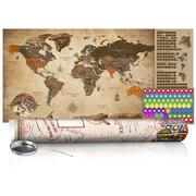 Mapa zdrapka - Mapa vintage - plakat (wersja angielska) ARTGEIST