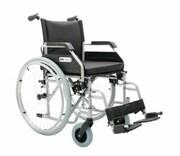 Wózek inwalidzki stalowy Optimum, Srebrny metalic, Koła pełne lub pom ARmedical