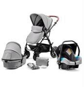 Wózek 3w1 Kinderkraft MOOV (spacerówka+ gondola+ fotelik)