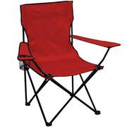 Krzesło turystyczne czerwone składane dla wędkarza Sportvida SportVida