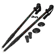 Kije, kijki trekkingowe 3-sekcyjne, anti-shock 105-135cm SportVida SportVida