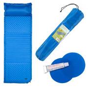 Mata samopompująca z poduszką NC4001 niebieska 190x63x3.8cm NILS CAMP NILS CAMP