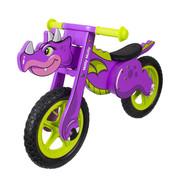 Rowerek biegowy, dziecięcy DINO fioletowy Milly Mally Milly Mally