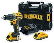 Akumulatorowa wiertarko-wkrętarka DeWalt DCD791D2 BRUSHLESS XR - 2 akumulatory 18V/2.0Ah DCD791D2-QW 3 lata gwarancji Dostawa: 1 dzień roboczy