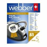 WEBBER Worki do odkurzaczy UNI-BAG(51) 5 szt. Worki do odkurzaczy UNI-BAG(51) 5 szt. WEBBER