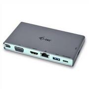 Stacja dokująca i-tec USB-C, 4K HDMI, VGA (C31TRAVELDOCKPD)