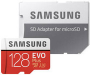 Karta pamięci Samsung Micro SDXC EVO+ 128GB Class 10 UHS-3 (R100/W60) + SD adaptér (MB-MC128HA/EU)