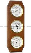 Stacja Pogody Barometr Termometr Higrometr - Demus SP3-BWA-G - Orzech Barometry Demus