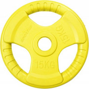 Obciążenie SPORTOP FI 51 Żółty (15 kg) SPORTOP