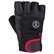 Rękawice fitness SPOKEY Fiks (rozmiar M) Czarno-czerwony SPOKEY