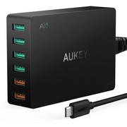 Ładowarka sieciowa Aukey PA-T11 60W 15.6A 6xUSB A Quick Charge 3.0