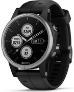 Zegarek sportowy z GPS Garmin Fenix 5S Plus srebrny z czarnym paskiem (010-01987-21)