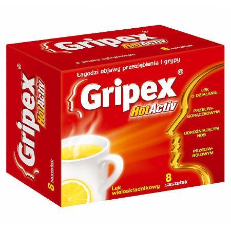 Gripex HotActiv 8 sasz. Us Pharmacia